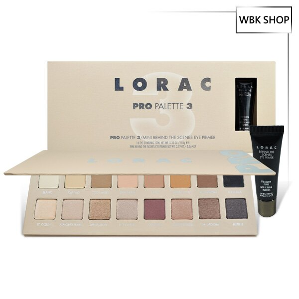 <br/><br/> Lorac Pro 3 16色眼影盤+眼部打底膏 5.5g Pro Palette 3+Behind the Scenes Primer - WBK SHOP<br/><br/>