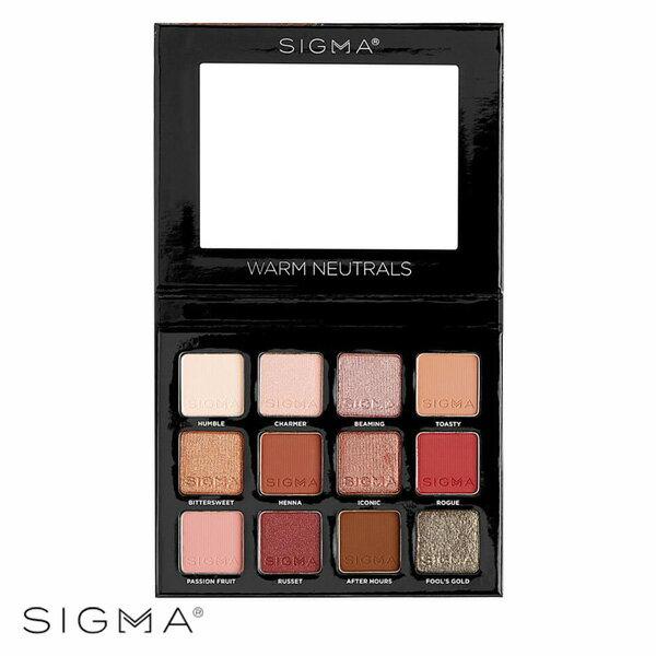 WBK SHOP:Sigma12色暖色系眼影盤13.23gWarmNeutralsVolume2EyeshadowPalette-WBKSHOP