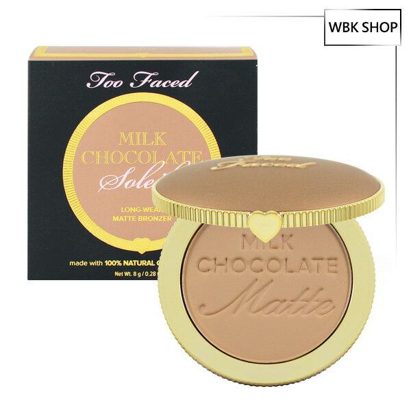 TooFaced牛奶巧克力霧面修容餅#MilkChocolate-LighttoMedium8gChocolateSoleilLong-WearMatteBronzer-WBKSHOP