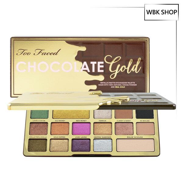 WBK SHOP:TooFaced16色巧克力黃金眼影盤(金屬+霧面)14x0.8g+2x1.8gChocolateGoldEyeshadowPalette-WBKSHOP