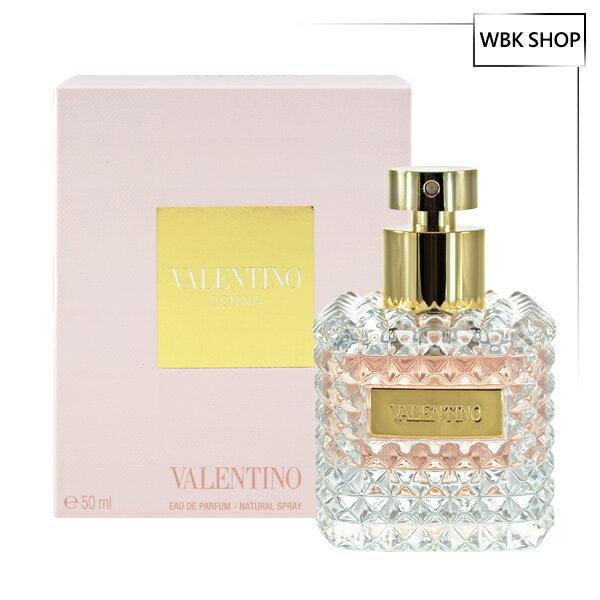 Valentino范倫鐵諾Donna女性淡香精50mlDonnaEDP(加贈名牌針管小香隨機款x1)-WBKSHOP