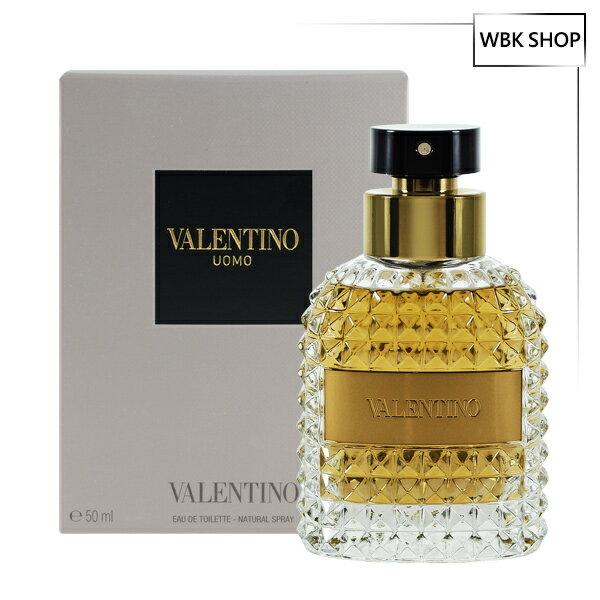 Valentino范倫鐵諾同名男性淡香水50mlUomoEDT(加贈名牌針管小香隨機款x1)-WBKSHOP