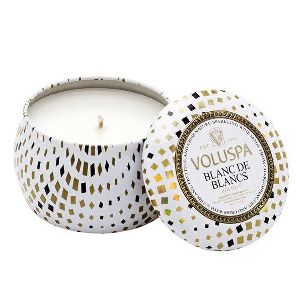 WBK SHOP:Voluspa假期白中白香檳錫盒香氛蠟燭113gBlancDdBlancs-WBKSHOP