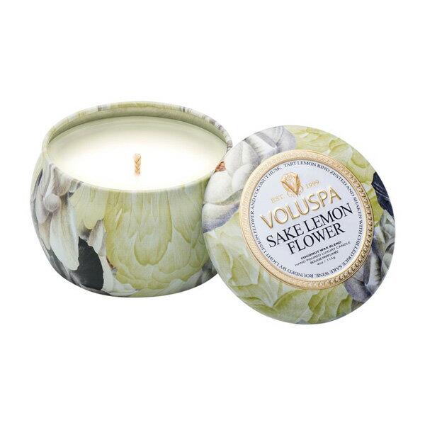 Voluspa 居家花園 檸檬花清酒 錫盒 香氛蠟燭 113g Sake Lemon Fl