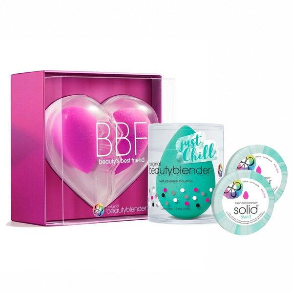 beautyblender®原創粉心心相印限定組+活氧綠X1+迷你綠清潔皂0.55ozX2-WBKSHOP