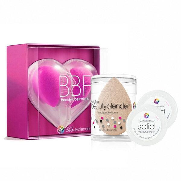 beautyblender®原創粉心心相印限定組+美膚裸X1+迷你白清潔皂0.55ozX2-WBKSHOP