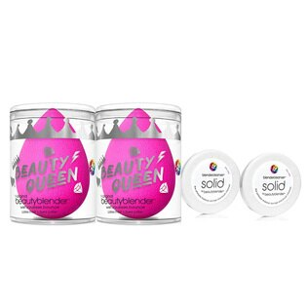 beautyblender®美麗女王分享組(女王蛋X2+迷你白清潔皂0.55ozX2)-WBKSHOP
