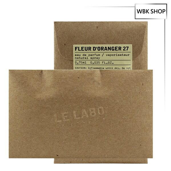 Le Labo 橙花27淡香精 針管小香 0.75ml Fleur d`Oranger 27 EDP - WBK SHOP