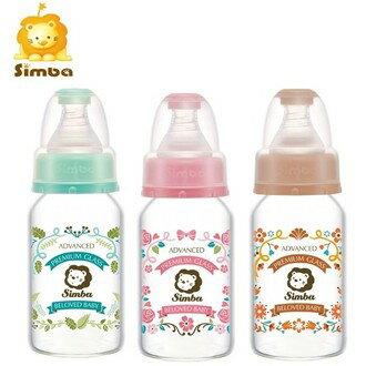 小獅王辛巴 蘿蔓晶鑽標準玻璃小奶瓶(藍色-香草/粉紅-玫瑰/咖啡-豔陽)120ml【德芳保健藥妝】