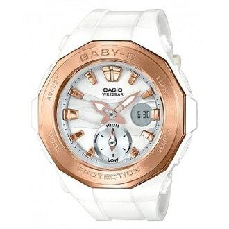 CASIO BABY-G BGA-220G-7A豪華露營雙顯流行腕錶/白47mm