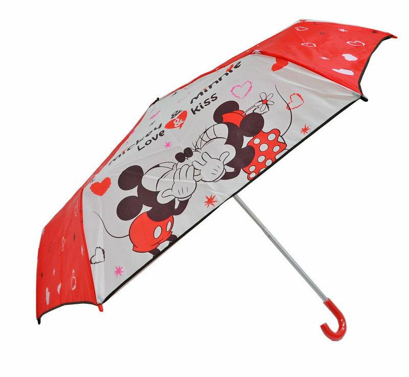 Disney 迪士尼 勾勾傘/彎頭傘/晴雨傘 米奇&米妮 正版授權 *夏日微風*