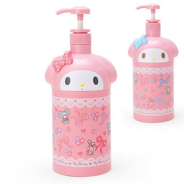 X射線【C020296】美樂蒂Melody 擠壓空瓶-粉,補充空瓶/沐浴罐/洗髮乳/乳液罐/衛浴用品/浴室/旅用