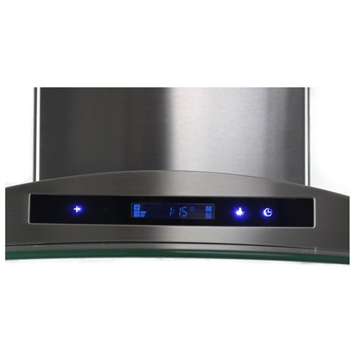 "AKDY 36"" AK-198KN36CF Stainless Steel Wall Range Hood Carbon Filter Included For Ventless/Ductless Options 2"
