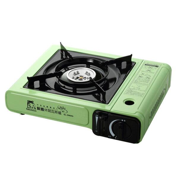 灰熊 休閒瓦斯爐 / 卡式爐 綠色 GL-090G - 限時優惠好康折扣