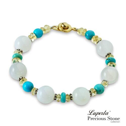 大東山珠寶 luperla:大東山珠寶浪漫愛情海瑪瑙寶石手鍊