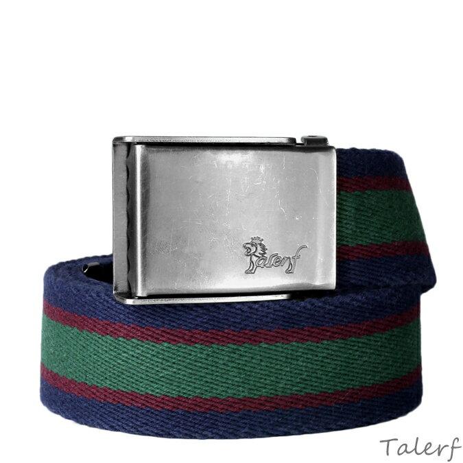 男女款織帶多彩條紋配色棉織帶 深藍  紅  綠 →