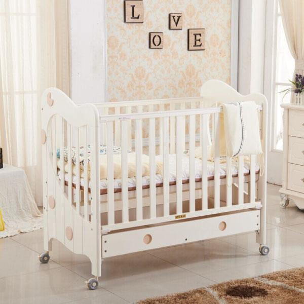喬依思 Lajoie 維多利亞Victoria嬰兒床【附贈6公分中空棉床墊】-白色