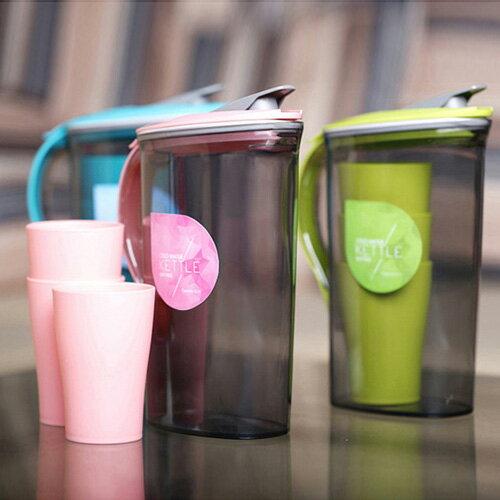 大容量塑料冷水壺水杯套裝  2.1L  1.5L【WS0365】 BOBI  11/03 0