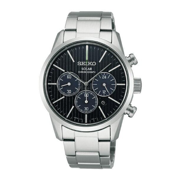 Seiko Spirit V175-0BJ0B(SBPY135J)時尚動感太陽能計時腕錶/黑面39mm
