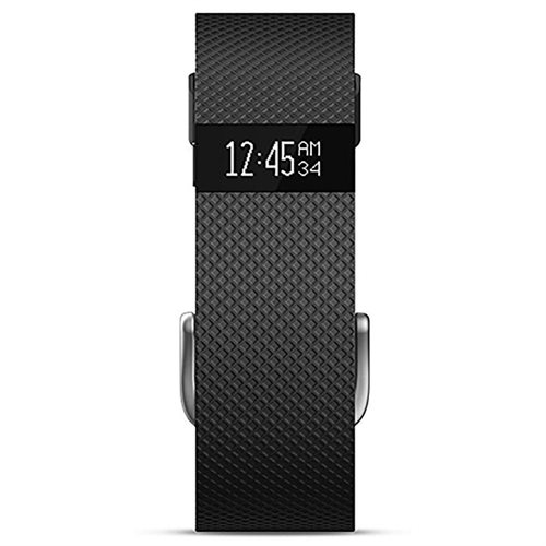 Fitbit Charge HR with Heart Rate Activity Wristband Black Large 2