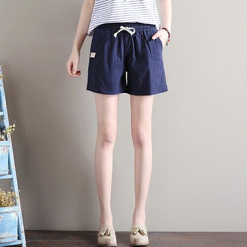 寬鬆緊腰亞麻休閒褲(7色S~3XL)【OREAD】 5