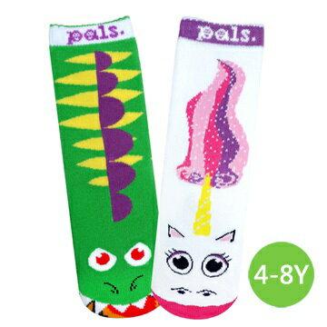 ★衛立兒生活館★美國Pals Socks 好夥伴寶寶襪-龍與獨角獸(4-8Y)