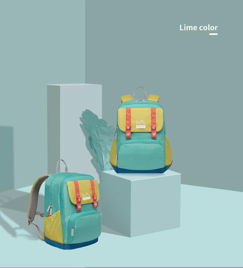 沒看過的鋁條書包,輕加上槓桿原理810公克100~160cm(1-6)BaMo輕有鋁條亮綠護脊書包~ 胸扣腰扣超輕量 軟包硬墊