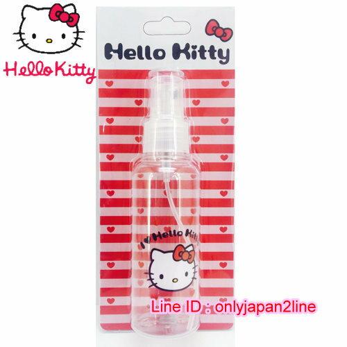【真愛日本】16101900018噴霧瓶100ML-KT愛心紅 三麗鷗 Hello Kitty 凱蒂貓 收納盒/擠壓瓶/噴霧瓶  旅用組