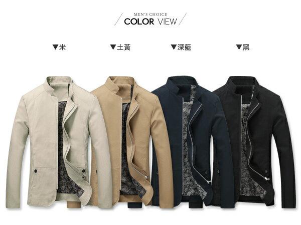 ☆BOY-2☆【NZ78008】韓風立領修身風衣外套 1