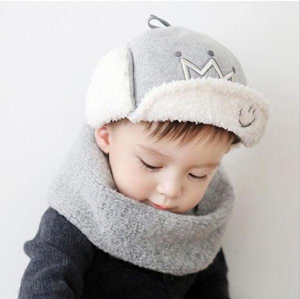 寶寶帽 羊羔絨軟沿鴨舌帽  嬰兒帽  護耳帽 BU11833 好娃娃
