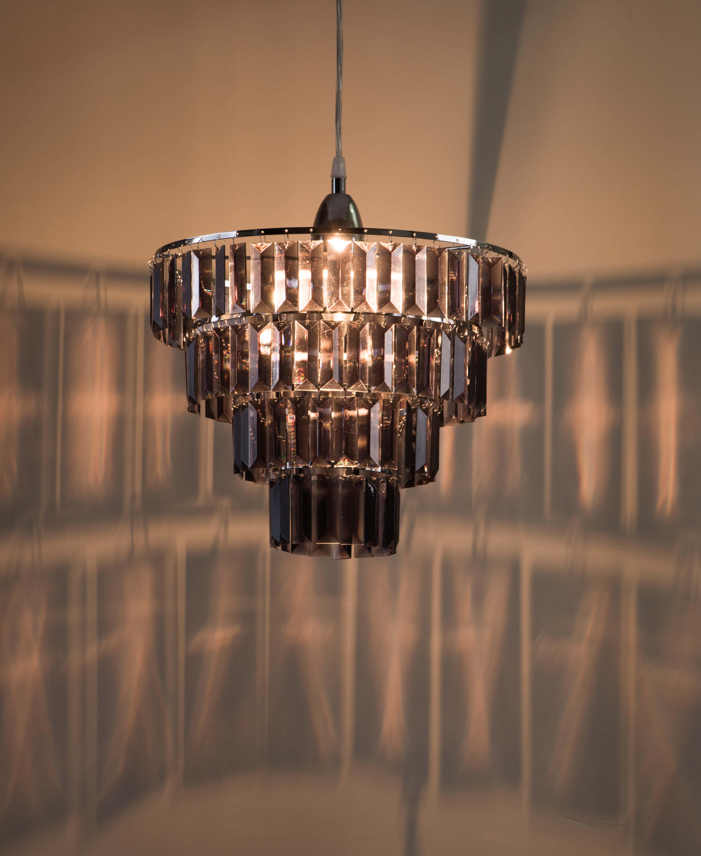 鍍鉻多層次燻黑壓克力板吊燈-BNL00043 5