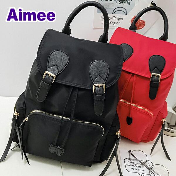 【預購】【Aimee】靈巧34公分歐風精品包‧歐洲小旅行義式巴貝里尼羅馬後背包《黑色訂購區》防水帆布包水桶包媽媽包手提包多口袋包