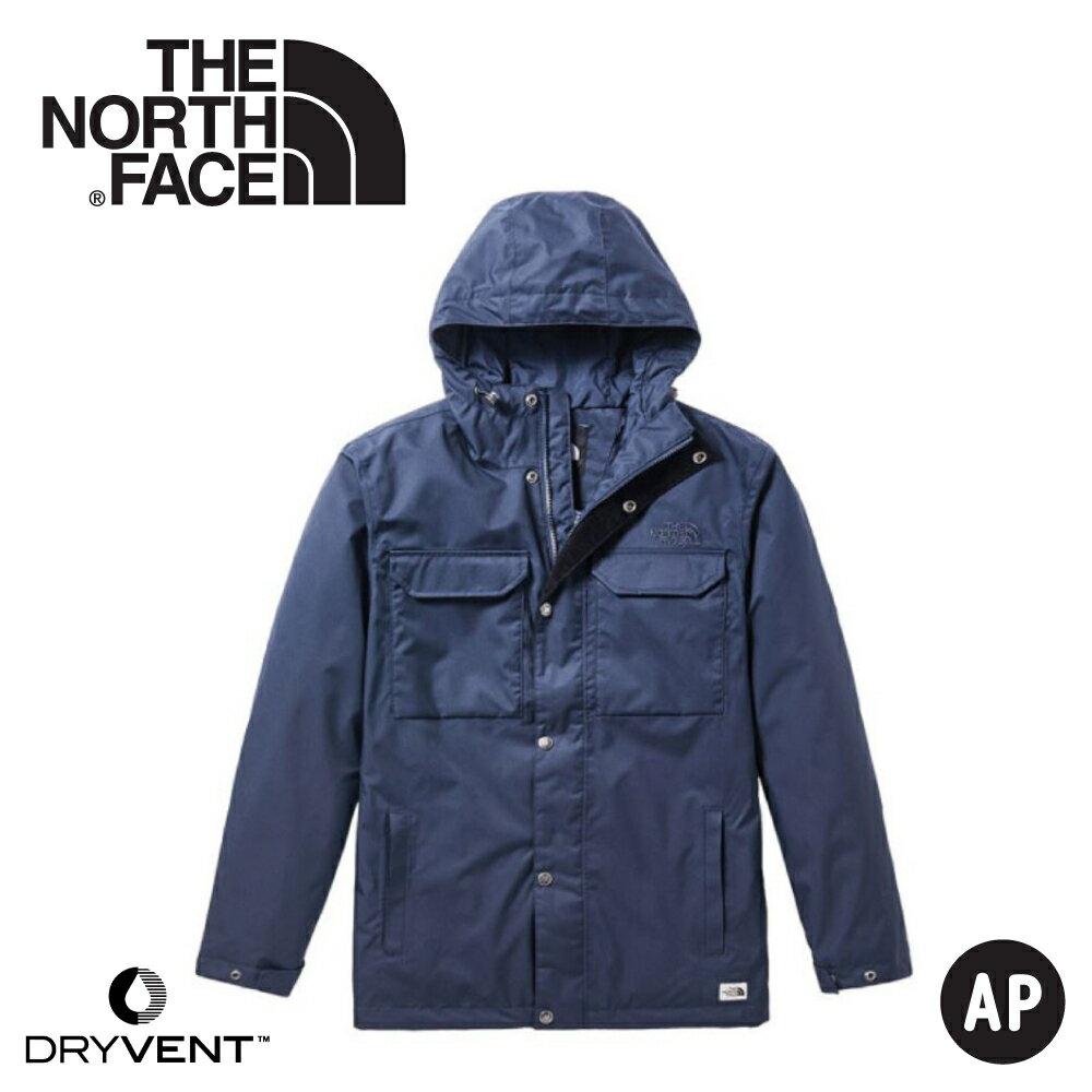 【The North Face 男 DryVent防水外套《海軍藍》】3VTN/連帽外套/夾克/風雨衣