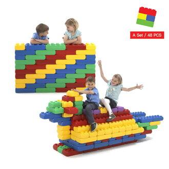 *babygo*Edu-Play多功能組合式大型積木(48PCS)EDU3048