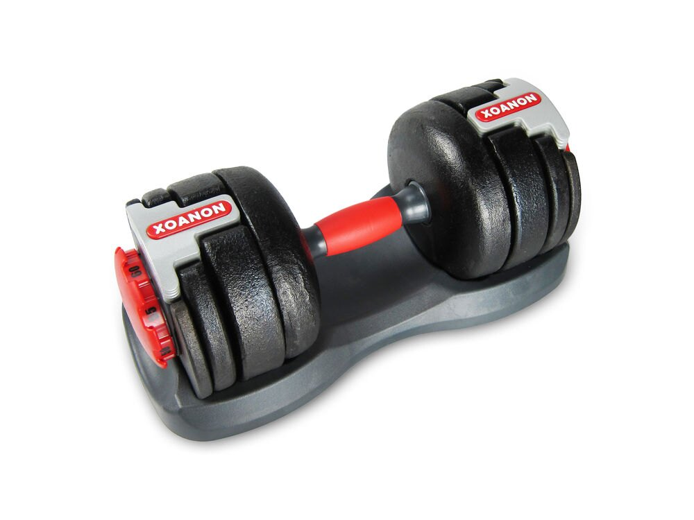 XOANON 洛恩耐運動健身 調整式啞鈴 極速調重啞鈴AD-60L 八段式可調重 25磅-60磅 重量訓練 調整啞鈴 可調式啞鈴