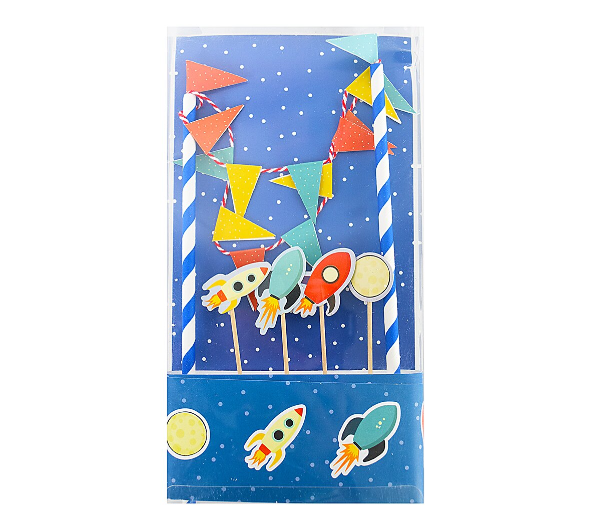 X射線【Y030001】生日蛋糕插旗組-火箭,拉旗/慶生/婚禮佈置/會場佈置/生日派對/園遊會/party