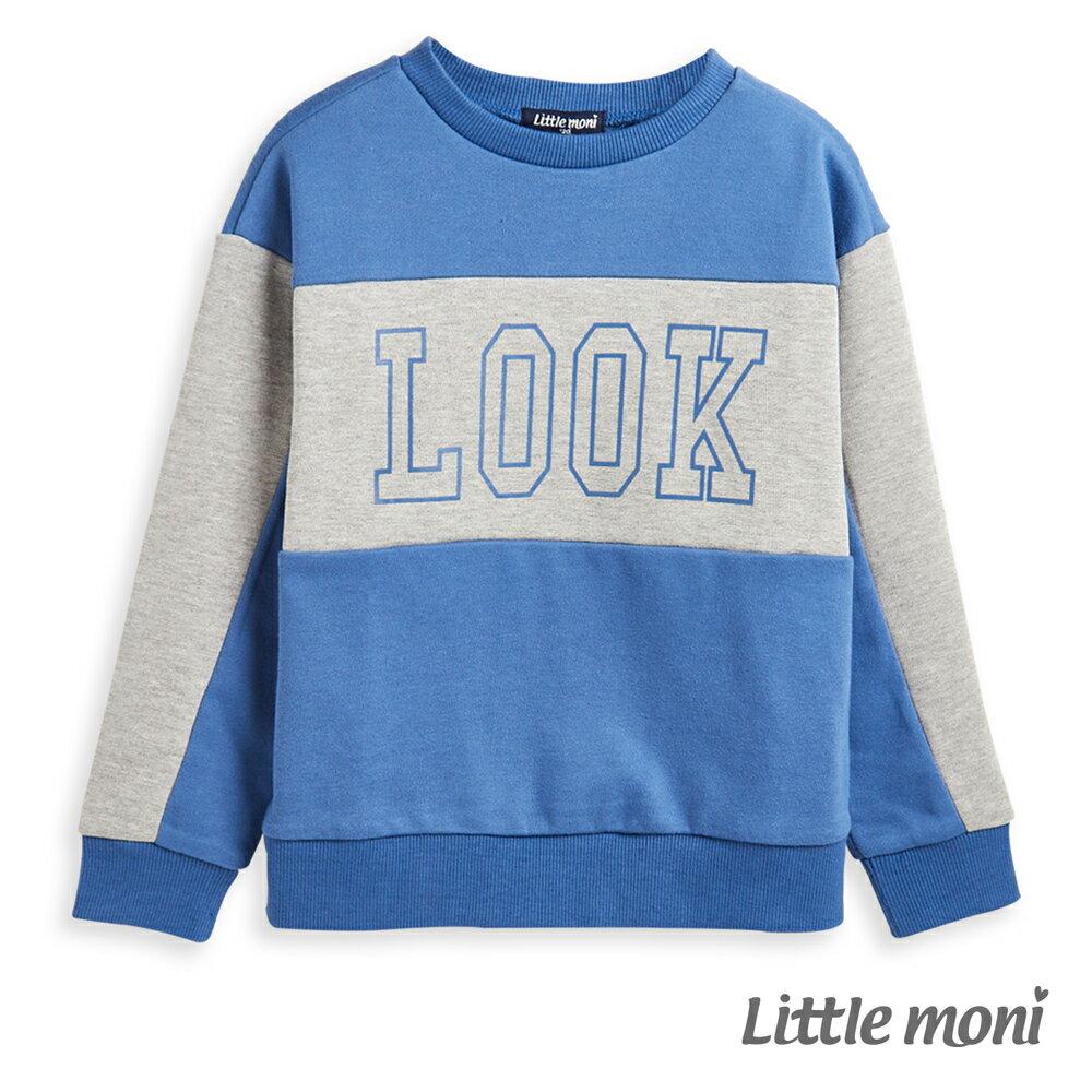 Little moni 圓領LOOK拼接上衣-皇家藍(好窩生活節) 0