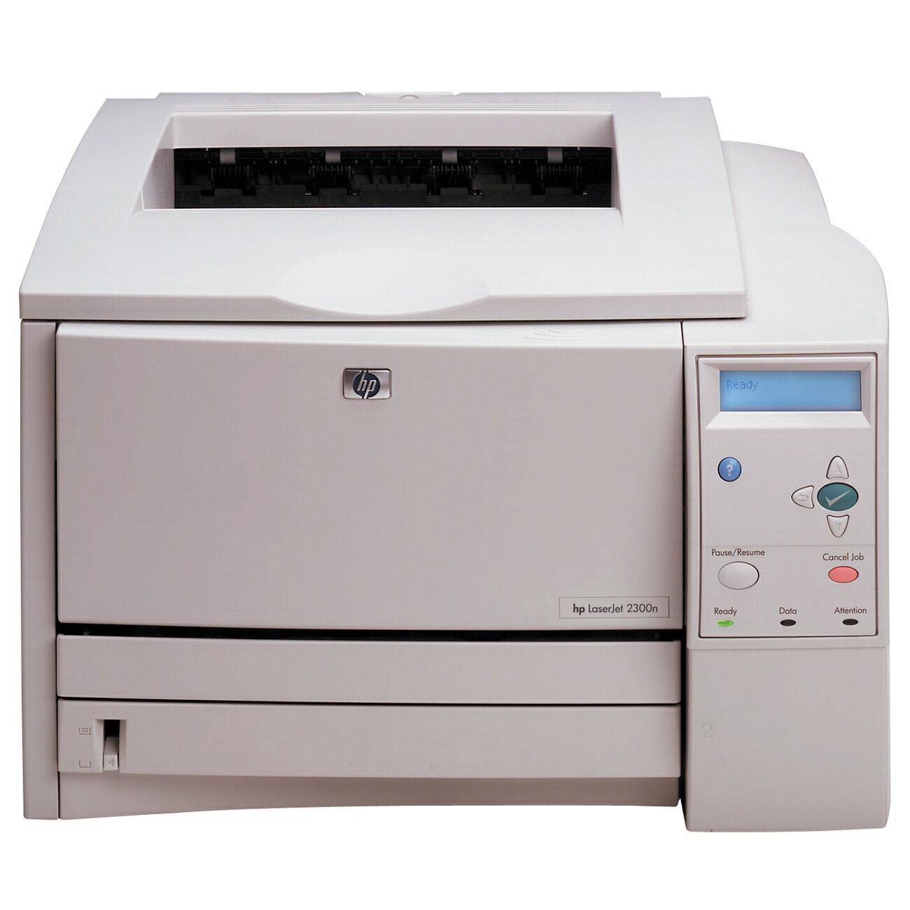 HP LaserJet 2300N Laser Printer - Monochrome - 1200 x 1200 dpi Print - Plain Paper Print - Desktop - 25 ppm Mono Print - Letter, Legal, Executive, Custom Size, Letter - 700 sheets Standard Input Capacity - 50000 Duty Cycle - Manual Duplex Print - Ethernet 0
