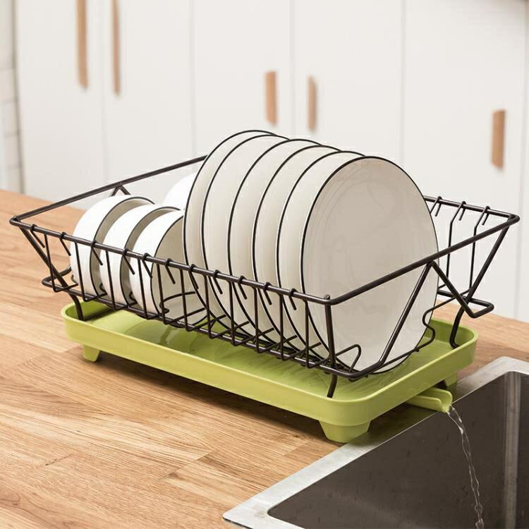 廚房置物架收納盒碗架單層瀝水架碗筷收納箱