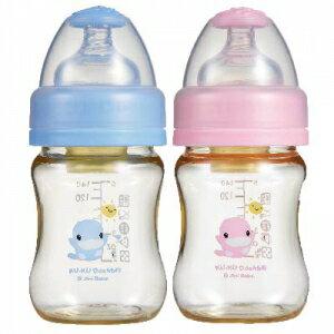酷咕鴨新防脹氣PES寬口徑奶瓶140ml 兩色