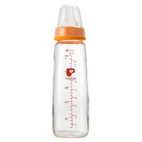 Pigeon 貝親 一般口徑母乳實感玻璃奶瓶240ml 顏色隨機出貨