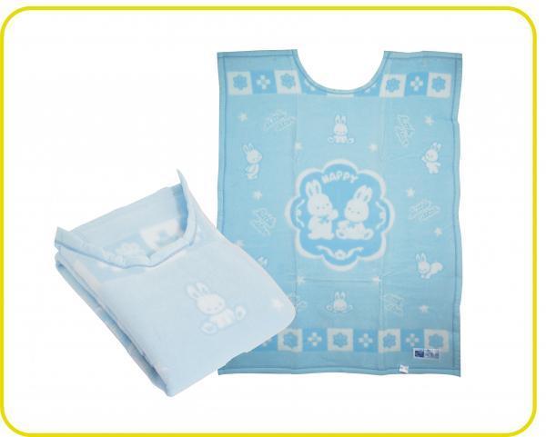 日製純棉護肩蓋毯 水藍 / 粉色
