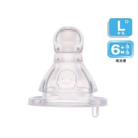 黃色小鴨 媽咪乳感防脹氣奶嘴 口徑 十字型 ^(L^) 3入