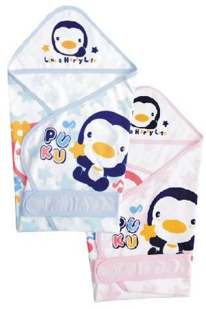 藍色企鵝 春夏單層包巾