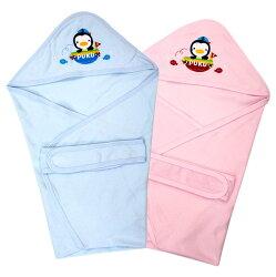 藍色企鵝 春夏繡花包巾