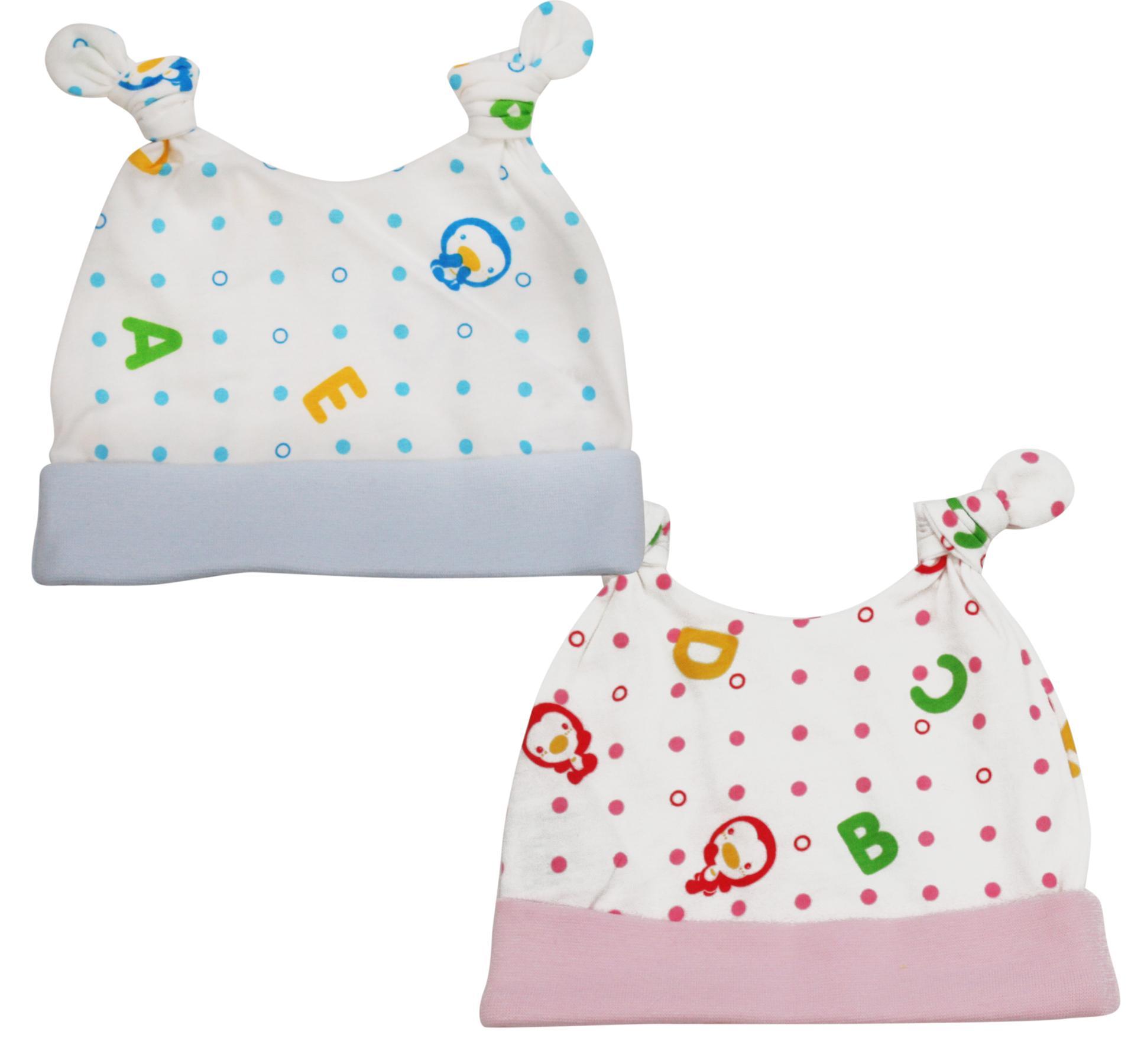 藍色企鵝 春夏印花嬰兒帽^(ABC^)