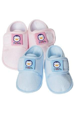 藍色企鵝 繡花寶寶鞋 ~  好康折扣