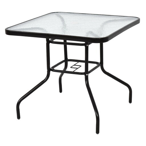 """Costway 31 1/2"""" Patio Square Table Steel Frame Dining Table Patio Furniture Glass Top 686c49779a3825dfe5bcf40c5b7f3ea4"""