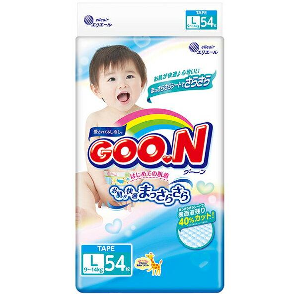 BO雜貨:BO雜貨【YV6374】GOO.N日本製大王境內版紙尿布3D瞬吸-黏貼型紙尿褲(L)-54片包