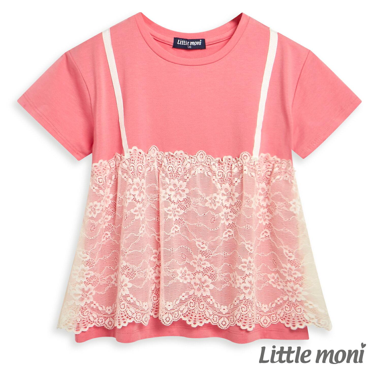 Little moni 蕾絲拼接上衣-玫瑰紅(好窩生活節) 1